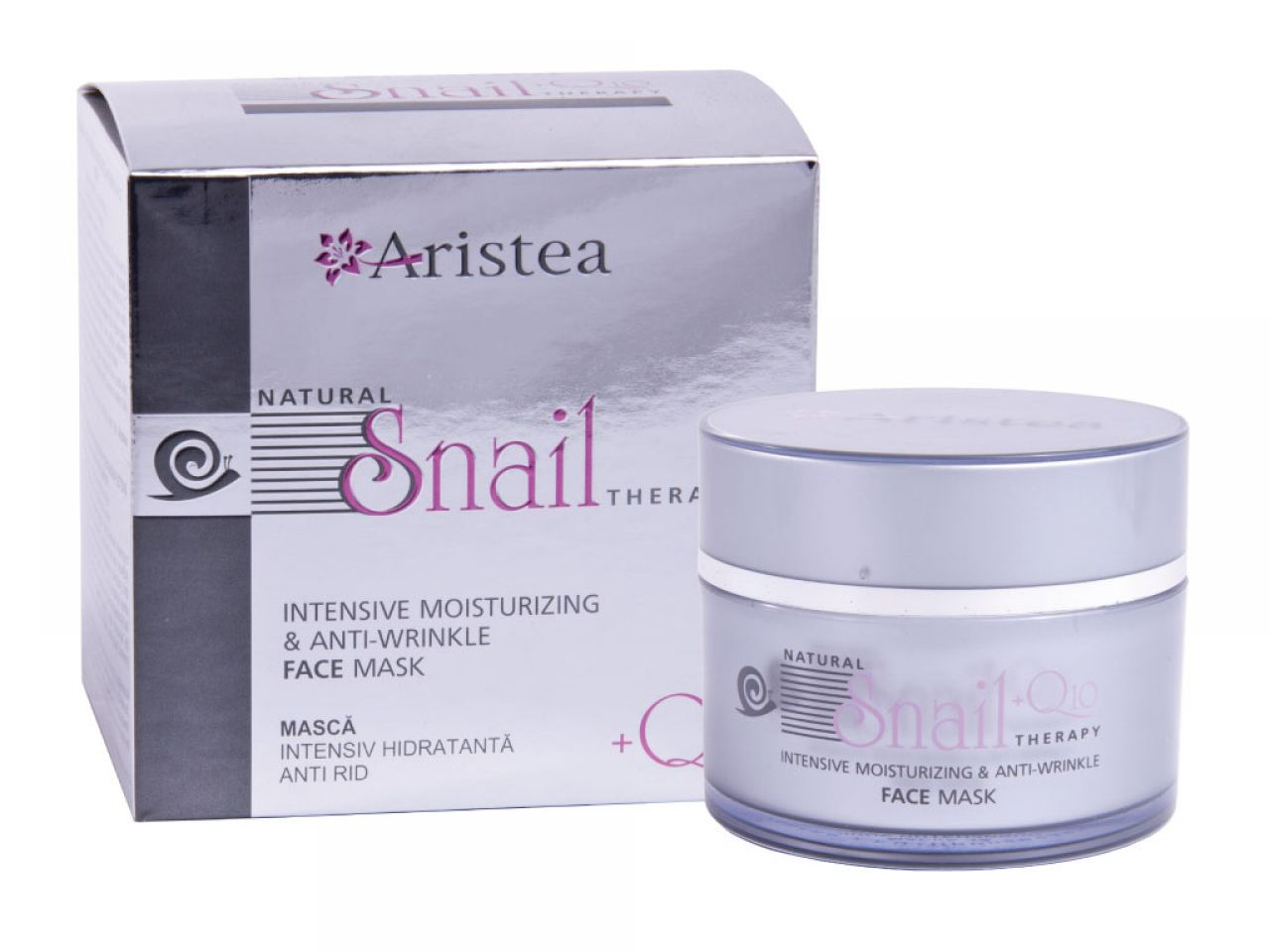 Intensive moisturizing & anti-wrinkle face mask with snail extract and Q10